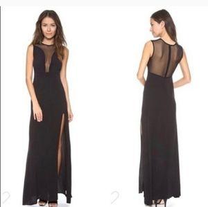 For Love And Lemons black lulu maxi dress